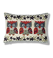Owl Floral Cushion
