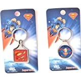 Warner Bros. Combo Of 2 Keychains (Superman Metal Keychain M 246 & Superman Keychain M 261)
