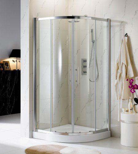 900x900 Tall Glass Quadrant Shower Enclosure with Stone High Tray