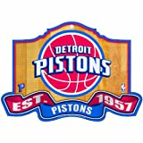 NBA Detroit Pistons 11-by-17 inch Established Wood Sign
