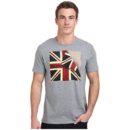 [ベンシャーマン] Ben Sherman メンズ Short Sleeve Folded Flag Tee Shirt MB11468 トップス Silver Chalice SM [並行輸入品]
