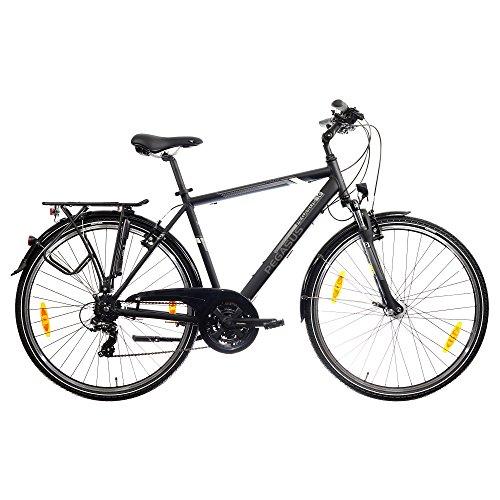 Pegasus Piazza Trapez Herrenfahrrad 28 Zoll 21Gang Shimano Trekking Fahrrad 2017, Farbe:Schwarz;Rahmenhöhe:58 cm