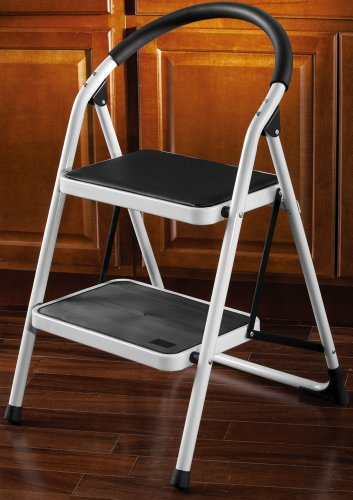 2 Tier Step Stool Ladder With Top Step Padding Seat By