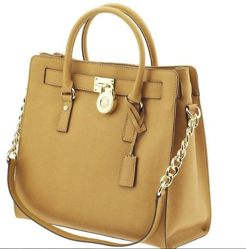 Michael Kors Hamilton Large Safiano Leather Tote Tan 30s2ghmt3l