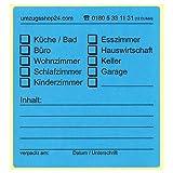 20 Beschriftungsetiketten für Umzugskartons blau