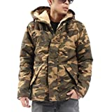 Zero Mens Hipster Camouflage Military Uniform Thick Coat Jacket by Zero