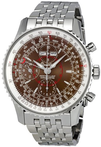 Breitling Men's A2133012/Q509SS Havana Brown Dial Montbrilliant Datora Watch