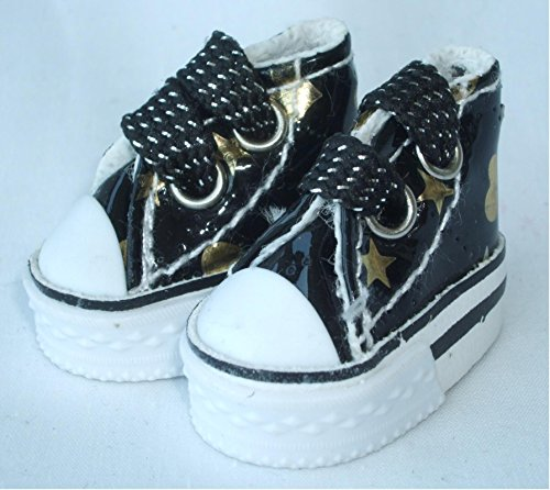 Doll design for high cut sneakers Bryce 1 / 6 size for patterns and colors (j Hart black)