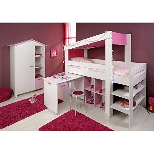 parisot 2273 kinderzimmer biotiful hochbett mit. Black Bedroom Furniture Sets. Home Design Ideas