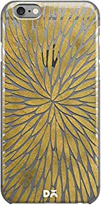 DailyObjects Gold WatercolorBurst Clear Case For iPhone 6
