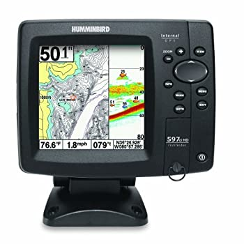 The Humminbird 597ci HD Combo features a high resolution 640V x 640H 5-Inch color display, Dual Beam PLUS sonar with 500 Watts RMS power output, and 50 channel internal GPS Chartplotting with built-in UniMap. The UniMap covers the contiguous U.S.A. c...