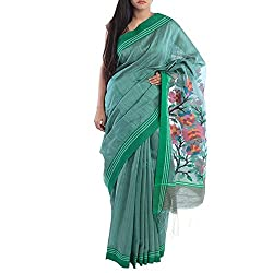 Kiara Crafts Silk Saree (kc-040_Green)