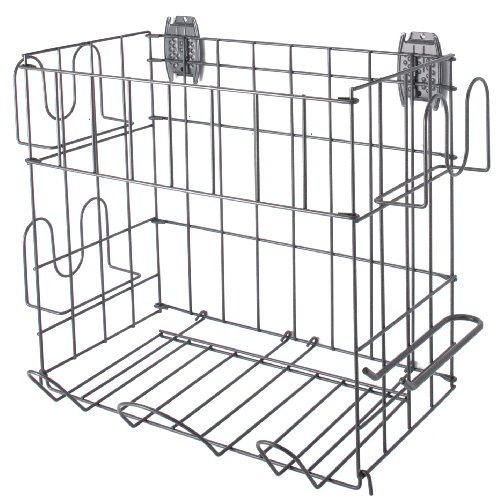 SCHULTE 7115-5070-50  Sports Rack and Basket, Granite Gray