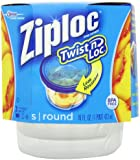 Ziploc Twist 'N Loc Containers, Small 2 Cup, 3 Containers & 3 Lids (Pack of 2)