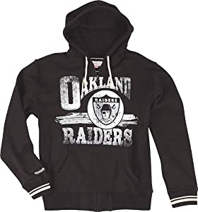 Oakland Raiders Mitchell & Ness Start of Season Full Zip Sweatshirt - Black by Mitchell & Ness