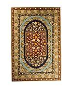 QURAMA Alfombra Chain Stitch Azul/Multicolor 183 x 122 cm
