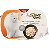 Purina Purely Fancy Feast Natural White Meat Chicken Entree Cat Food, 2-Ounce Pouch, Pack of 10