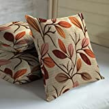"Skipper 3 Piece Viscose Cushion Cover Set - 16"" X 16"", Red"