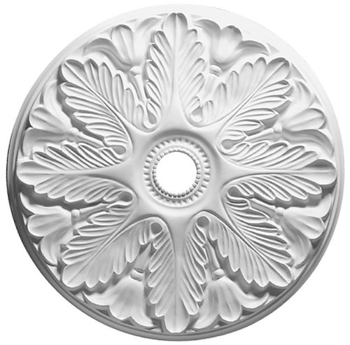 Focal Point 31 Inch Diameter Ceiling Medallion Regency Primed White Polyurethane 80531