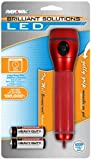 Rayovac BRSGELI2AA-B Bright Solutions LED Gelly Grip Flashlight, 2AA Batteries Included, Colors Will Vary