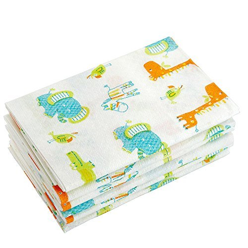 Babies R Us - Large Disposable Safari Changing Pads 6 Pack - 1