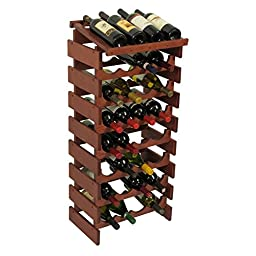 Wooden Mallet 32 Bottle Dakota Wine Rack with Display Top Light Oak