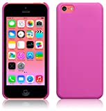 PINK MATTE FINISH RUBBERISED HARD BACK CASE FOR IPHONE 5C + FREE SCREEN PROTECTOR