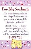 "Heartwarmers For My Soulmate Keepsake Card & Envelope 3.5"" x 2"" Code K107E"