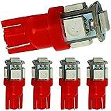 Supower 1.2W 6500K 32 Lumen 5 SMD LED Car White Light Bulbs-5Pcs Set(Red)