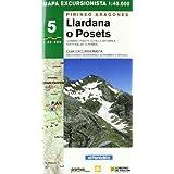 Llardana - posets - mapa pirineo aragones (Mapas Excursionistas Coedi)