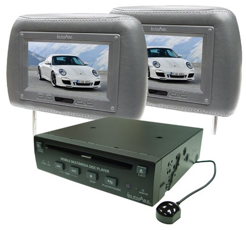 In Phase IVM7PKGREY 7 inch DVD Player and 2 Grey Headrest Screens Package