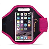 Gear Beast Sport Gym Running Armband with Key Holder and Free Strap Extender for iPhone 6s, 6, Galaxy S7, S6, S6 Edge, S5, Motorola Moto G, Moto E, Moto X, Droid Maxx, Droid Turbo, Other