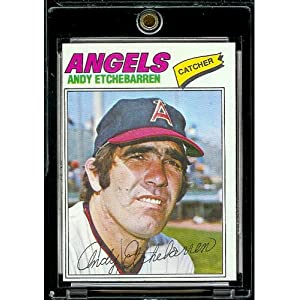 1977 Topps # 454 Andy Etchebarren California Angels Baseball Card