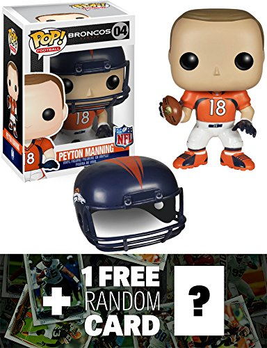 Peyton Manning - Broncos: Funko POP! x NFL Vinyl Figure + 1 FREE Official NFL Trading Card Bundle [45340]