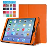 MoKo Apple iPad Air Case - Slim Folding Case for Apple iPad 5 / iPad Air (5th Gen) Tablet, ORANGE (With Smart Cover Auto Wake / Sleep)