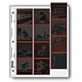 """Archival 120 Size Negative Pages Holds Three Strips of Four 6 x 6"""" Frames, Pack of 25"""