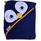 """Extra Large 40""""x30"""" Velour Hooded Towel, Penguin, Frenchie Mini Couture"""