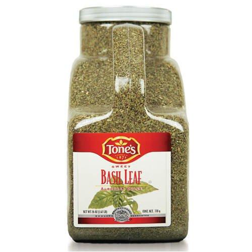Tone's Sweet Basil Leaf - 26 oz (Gourmet,Tone's,Gourmet Food,Seasonings, Herbs & Spices,Single Spices & Herbs,Sweet Basil Leaf)