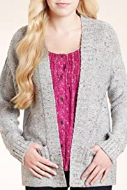 Angel Textured Pockets Knitted Cardigan with Silk [T74-2642A-S]