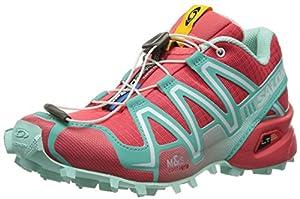 Salomon Women's Speed Cross 3 W Trail Running Shoe,Papaya/Softy Blue/Igloo Blue,9 M US