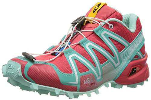 Salomon Women's Speed Cross 3 W Trail Running Shoe,Papaya/Softy Blue/Igloo Blue,9.5 M US