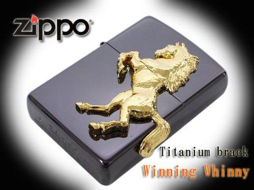 Zippo lighter * regular * ウイニングウィニー black titanium finish