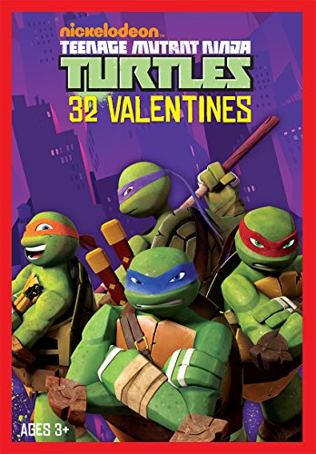 Paper Magic 32CT Showcase Teenage Mutant Ninja Turtles Kids Classroom Valentine Exchange Cards