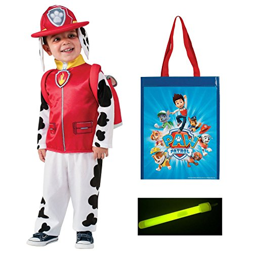 Paw Patrol Marshall Costume (Small), Trk-or-Trt Bag, 4