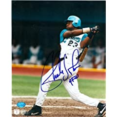 Charles Johnson Autographed Hand Signed 8x10 Photo (Florida Marlins 1997 World...