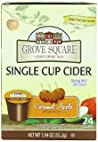 Grove Square Caramel Apple Cider, Sugar Free, 24-Count Single Serve Cup for Keurig K-Cup Brewers