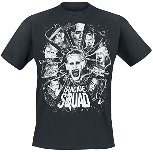 Suicide Squad Shards Of Glass T-Shirt nero M