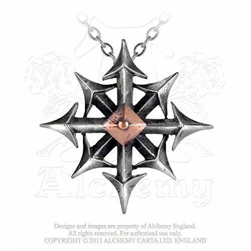 GothicJewels - Collana Alchemy Chaostar o la stella del caos