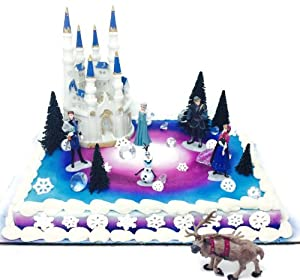 Disney Frozen Cake Toppers Decoration Set: Amazon.co.uk ...