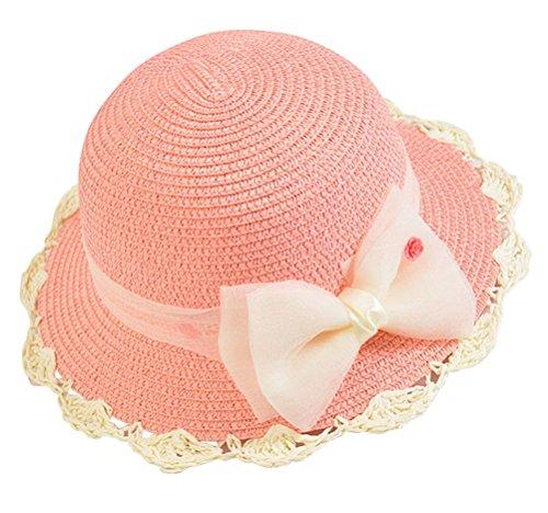 Little-Girl-Kids-Summer-Wide-Brim-Floppy-Beach-Sun-Visor-Hat-with-Lace-Bowknot